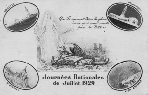 1929 journées nationales de juillet recto