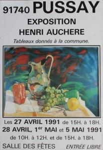 Affiche exposition Auchère