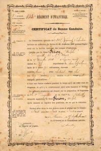 Firon Adolphe Certificat