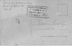 Hardy Henri verso camp de prisonnier friedrichfeld 10 03 1916 - 14 12 1918