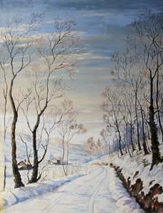 Tosi - paysage en hiver