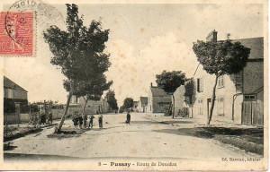 Route de Dourdan - carte postée le 16 octobre 1906