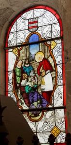 vitrail de saint Charles Borromée