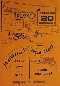 affiche 1 er cyclo cross