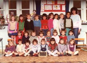 1983 - 1984 - Ecole maternelle - moyens grands - Mme Annie Boué
