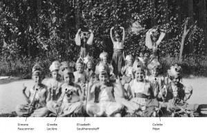 1939 - 1940 - fête des écoles Paul Bert - Les Cambodgiennes