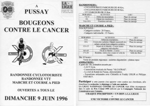 1996 Course contre le cancer