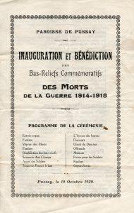 1920 - Inauguration Bas Relief 1