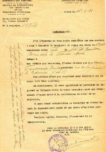 Bouillon Pierre Alphonse - 1922 02 15 2 demandes transfert du corps