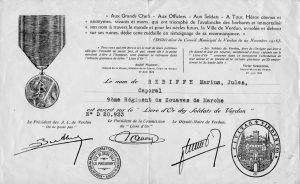 Rebiffé Marius livre d'or des soldats de Verdun